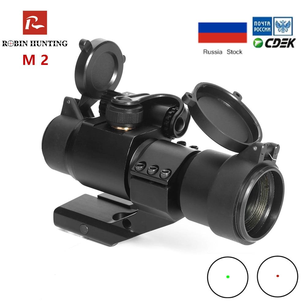 M2 Tactical Hunting Riflescope 1x30 Reflex Red Green Dot Riflescope With 20mm Picatinny Rail Mount For Short Gun Hunting