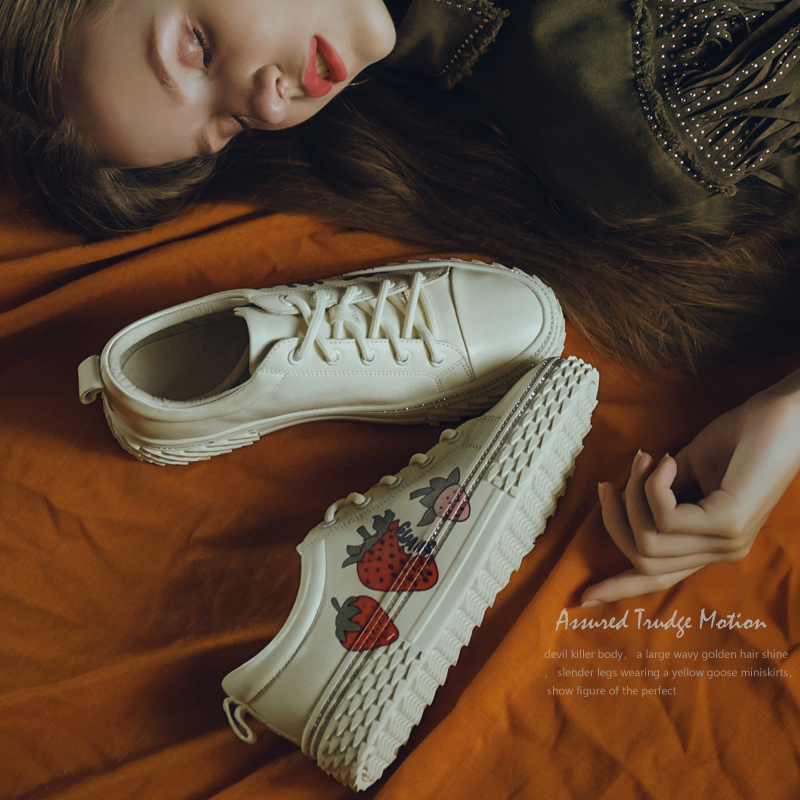 EshtonShero Stylish Women Casual Shoes Lovers Leather Dad Platform Chunky Sneakers Flat Thick Sole White Basket Walking Size 4-8