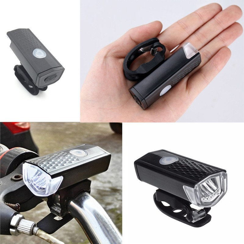 3 Modes Bike Bicycle Light Bicycle USB Rechargeable Headlight 300 Lumens Bike Front Lamp MTB Cycling Flashlight Bike Accessories 2