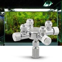 4/6 Way Aquarium Co2 Distributor Splitter Needle Valve Solenoid Regulator Different Tanks CO2 To Aquariums For Air Line