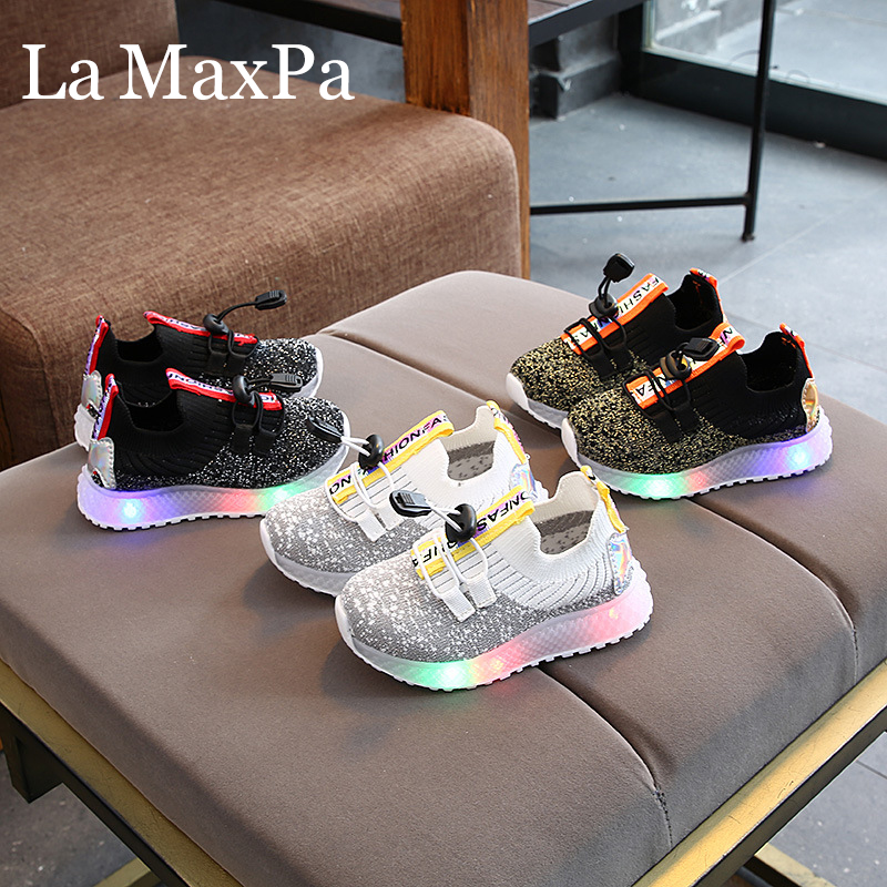 Kids Led Shoes 2020 Spring New Children Sneakers With Backlight Led Shoes For Kids Children Glowing Sneakers Chaussure Lumineuse