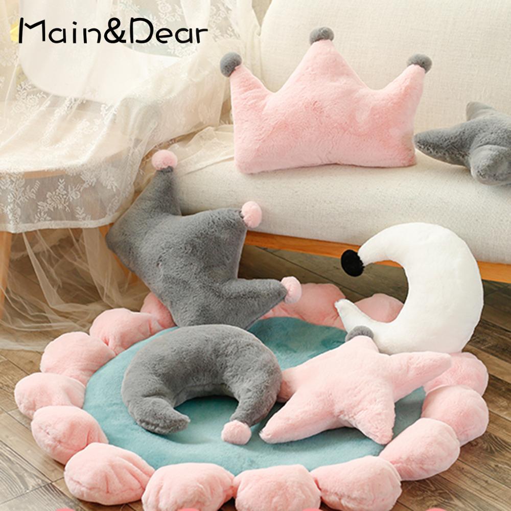 Красивая Подушка для дивана, подушка для кровати, спинка, корона, плюшевая подушка для гостиной, декоративная подушка для девочки, подарок на день рождения|Подушка|   | АлиЭкспресс