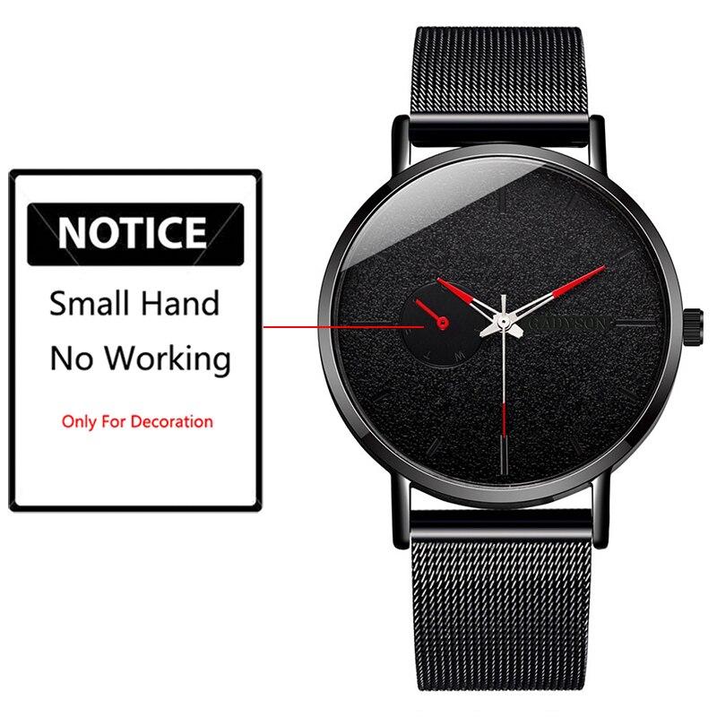 H9d7a24f6e66b4bfc8cbaf624061e3209S DONROSIN Men Casual Slim Black Mesh Steel Wrist Sport Watch Fashion Mens Watches Top Brand Luxury Quartz Watch Relogio Masculino