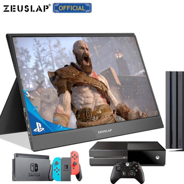 15.6inch touch panel portable monitor usb type c HDMI-compatible computer touch monitor for ps4 switch xbox one laptop phone 4