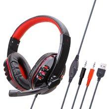 цена Computer Gaming Luminous Earphone For PS4 Headphones Computer Gaming Headset Universal Headset with Microphone онлайн в 2017 году