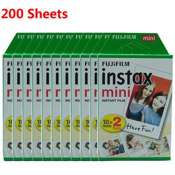 Fujifilm Instax Mini Film 10-200 arkusze na FUJI natychmiastowy aparat fotograficzny Mini 11 Mini 9 Mini 8 7s 70 90 folia na aparat fotograficzny szybka wysyłka tanie i dobre opinie Folia błyskawiczna CN (pochodzenie) Fujifilm Instax Mini 8 9 White Film