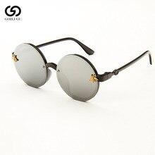 Fashion children sunglasses retro plastic bee baby boy girl travel round mirror glasses