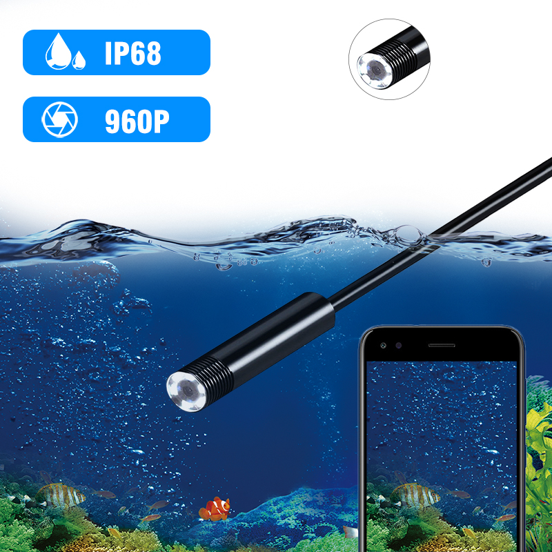 cheapest 2 0MP Semi-Rigid USB Endoscope Camera IP67 Waterproof Sewer Camera With 8 LED for Android MacBook  amp  Windows PC  3CM-5M