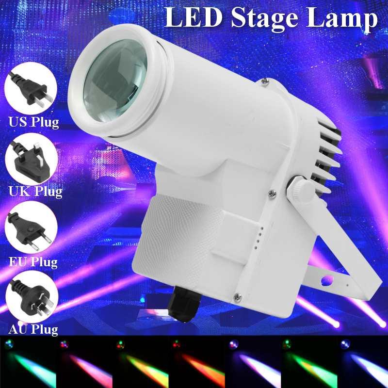 Светодиодный сценический прожектор 30 Вт RGBW, светодиодный прожектор Pinspot, точечный прожектор DMX512, многорежимный диско-прожектор KTV, подсветс...
