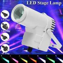 30w rgbw led iluminação de palco pinspot feixe spotlight dmx512 multi-modo disco festa ktv luz de palco de iluminação de 360 graus