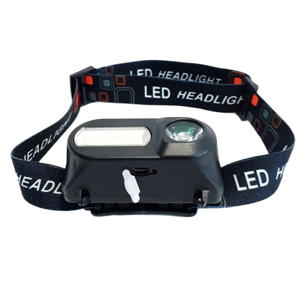 Multi-function USB Interface Charging Head Light COB Outdoor Emergency Head-mounted Flashlight 18650 Battery Lighting