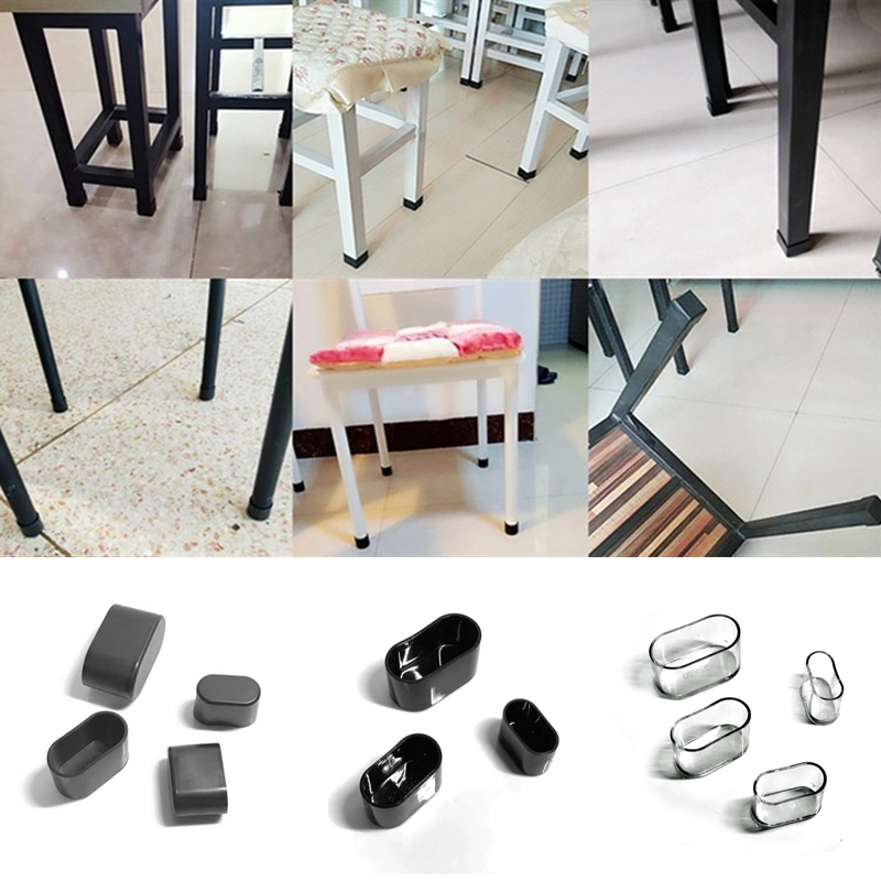 10PCS/SET Non-slip Oval Furniture Foot Table and Chair Feet Protective Cover Stool mat