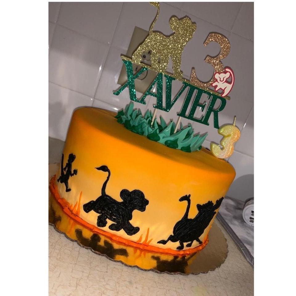 Fine Personalise Name Age Glitter Lion King Cake Topper Lion King Funny Birthday Cards Online Bapapcheapnameinfo