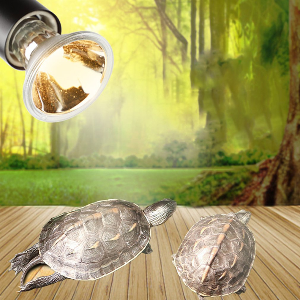 Turtle Back Light Bulb Full Spectrum Sun Light Reptile Amphibians UVB+UVA Dimmable Lizard Heater Pet Products Low Consumption