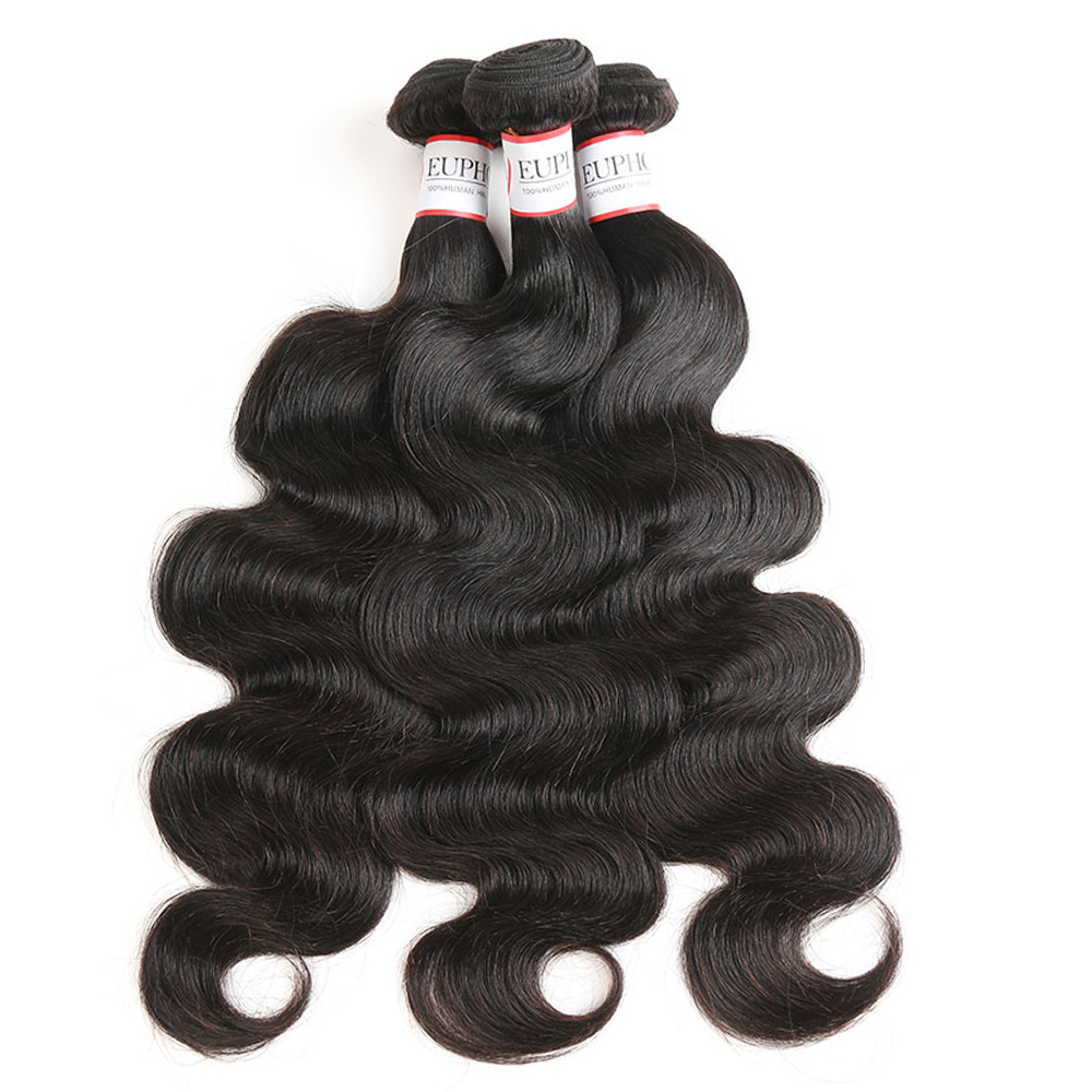 Body Wave Hair Bundles Peruvian 100% Human Hair Weaves 8-28inch Euphoria Natural Color Remy Human Bundle Hair Weaving Extensions