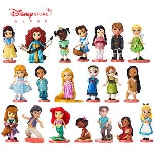 Disney 20pcs/set Princess Action Figures Toys Rapunzel Snow Cinderella White Snow Fairy Rapunzel Doll Decoration Children Gift(China)