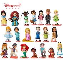 Disney 20pcs/set Princess Action Figures Toys Rapunzel Snow