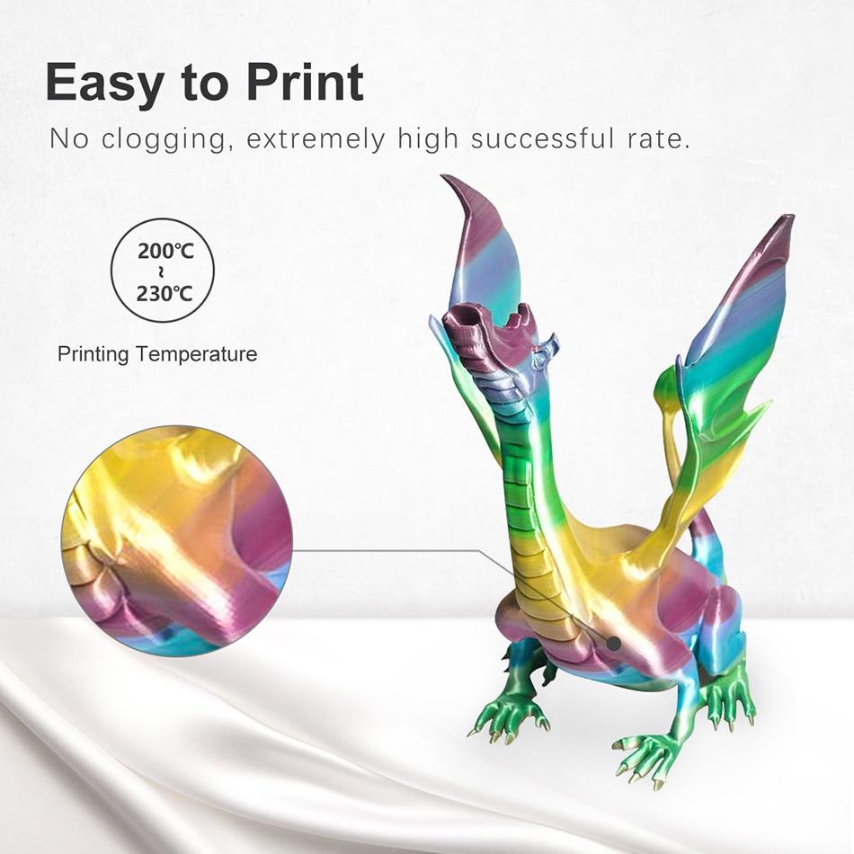 Шелковая Радужная Нить, профессиональная рамка, цветной 3D-принтер, нить для печати, сублимация, anycubic sublicion regalos originales