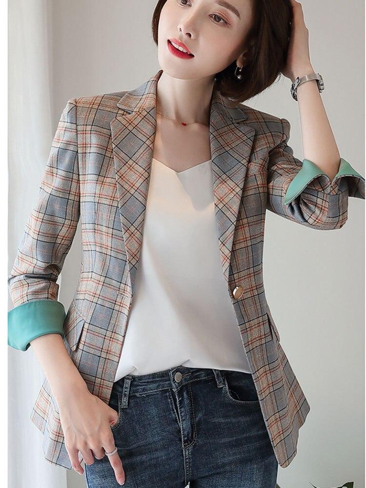 Женское пальто, осень 2019, новое, повседневное, модное, темпераментное, приталенное, британский стиль, с одной пряжкой, маленький костюм
