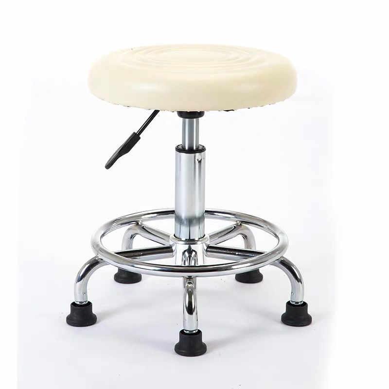 Salone di bellezza mobili barbiere attrezzature negozio di barbiere sedia del tatuaggio del chiodo dei capelli di trucco sedia con ruote di parrucchiere sgabello rosso