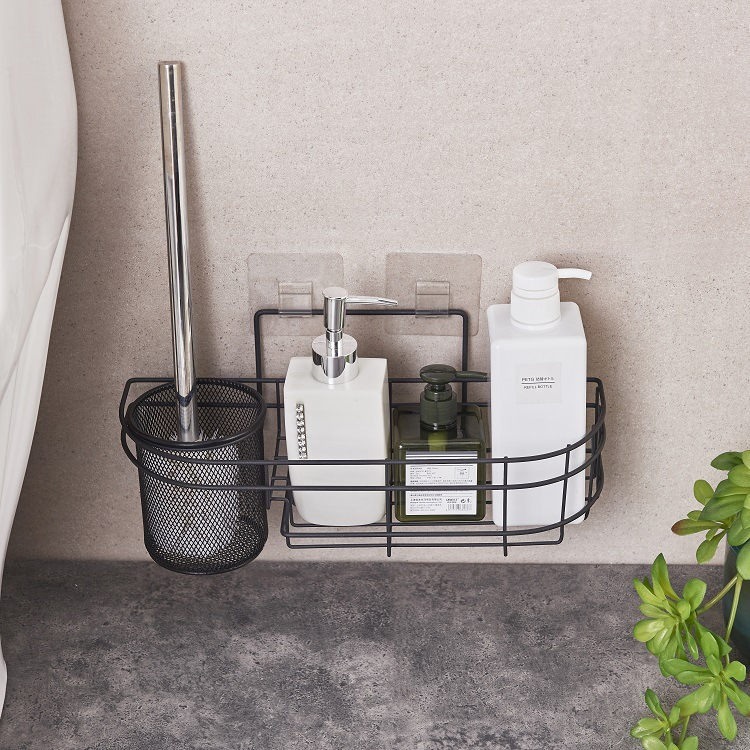 Black Iron Art Lavatory Brush Toilet Brush Holder Set Wall Closet Bowl Brush Rack For Bathroom Toilet Borstel WC Accessories