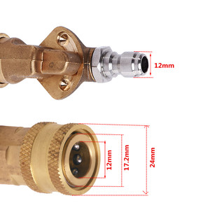 Image 3 - HNYRI Adjustable 1/4 inch Quick Connector Rotary Coupler Adapter for High Pressure Car Washer Lance Brass Gun Ceramics Nozzles