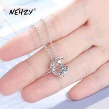 NEHZY – collier en argent Sterling 925 pour femme, pendentif rétro Simple en cristal Zircon de haute qualité, nouvelle collection de bijoux tendance