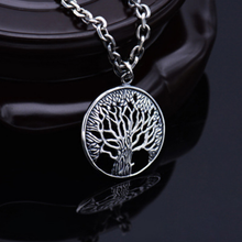Sterling 925 Silver Tree Of Life Carved Hollow Out Pendant Retro Thai Silver Fashion Jewelry Brand New Original (HY3A)
