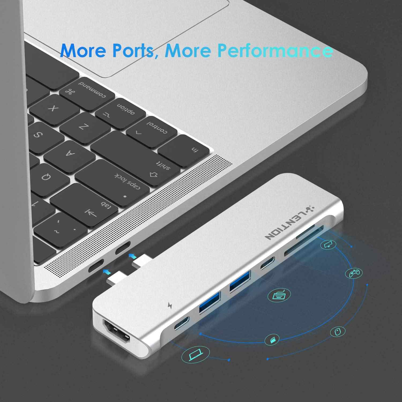 Hub USB C z 40 gb/s, 100W mocy, 4K HDMI, 2 USB 3.0, SD/mikrokarta czytnik, danych typu C adapter do macbooka Pro 13/15