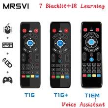 T16 M Voice Control Air Mouse 2.4GHz ไร้สาย Google ไมโครโฟนรีโมทคอนโทรล IR การเรียนรู้สำหรับ Android TV Box PC PK G10S G20 G30