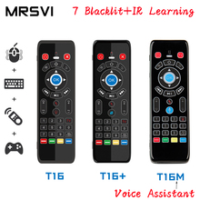 T16 M commande vocale Air souris 2.4GHz sans fil Google Microphone télécommande IR apprentissage pour Android TV Box PC PK G10S G20 G30