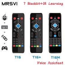 T16 m controle de voz mouse ar 2.4 ghz sem fio google microfone controle remoto ir aprendizagem para android caixa tv pc pk g10s g20 g30