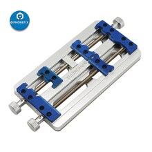 PHONEFIX soporte de placa PCB de doble eje de alta temperatura, accesorio de aleación de aluminio, Base fija para soldadura de placa Base