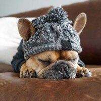 Winter Haustier Hund Hut Cap Weihnachten Warme Winddicht Pet Hüte Woolen Hund Zubehör Für Kleine Mittelgroße Hunde Hut Französisch Bulldog outdoor