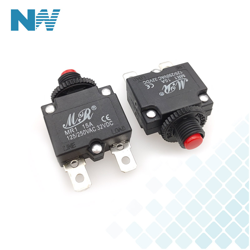 5A//10A//15A//20A//30 AMP Circuit Breaker Panel Mount Air Switch Resettable Thermal Fuse Circuit Breaker 10A
