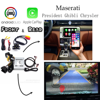 Rear&Front camera For Maserati President Ghibli Chrysler 2011-2020 Carplay box Adapter Interface Display Improve Auto Android image