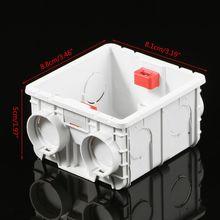 86-Тип ПВХ распределительная коробка настенное крепление кассеты для переключатель гнездо основание светильника