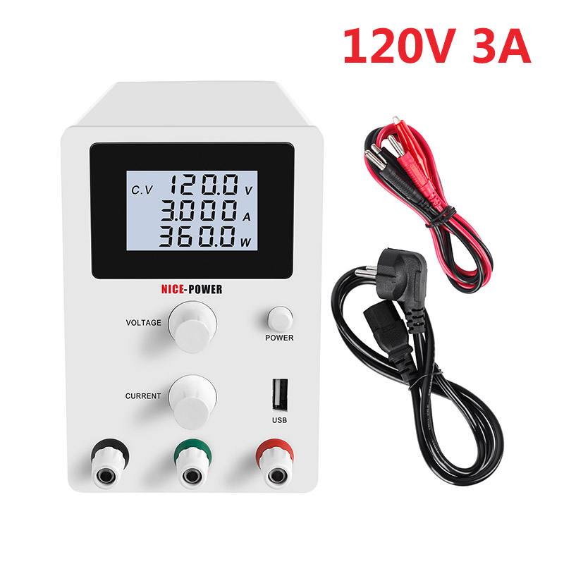 120V 3A High-precision Switching Voltage Regulated DC Lab <font><b>Power</b></font> <font><b>Supply</b></font> <font><b>30V</b></font> 10A 60V <font><b>5A</b></font> <font><b>Power</b></font> <font><b>Supplies</b></font> Adjustable Bench Source image
