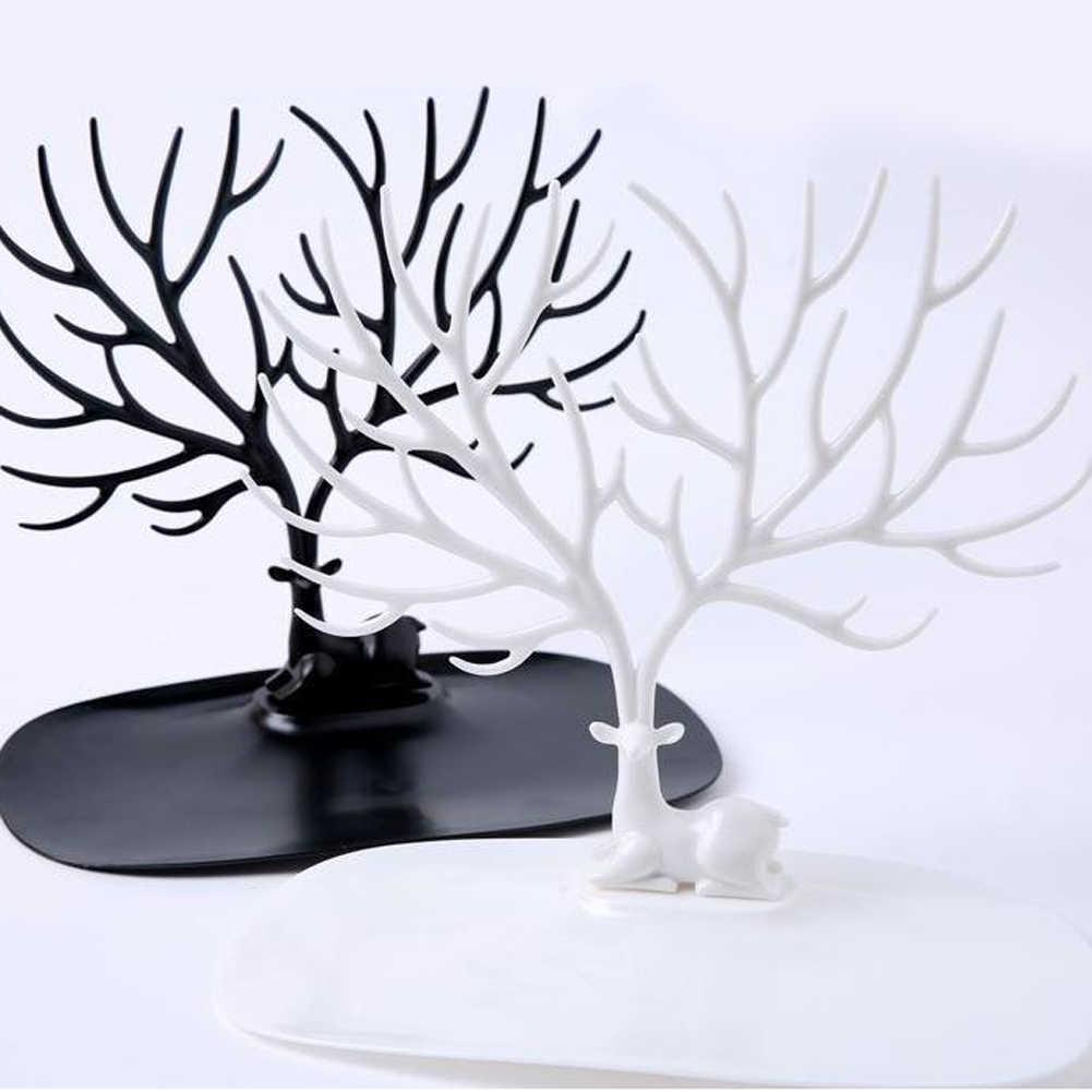 Ciervo árbol joyería estante exhibición pendientes collar pulsera anillo organizador nuevo
