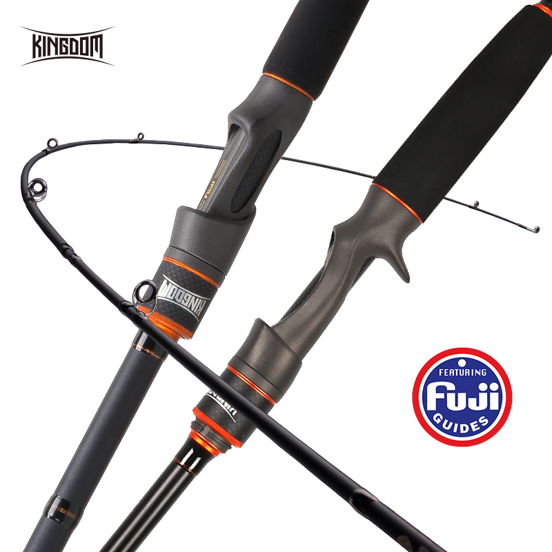 Kingdom Fishing Rod Lure Fishing 2&3 Sections 1.95/1.98/2.13/2.4/2.7/3.0m ML M MH Power Good Quality Straight For Bass Perch