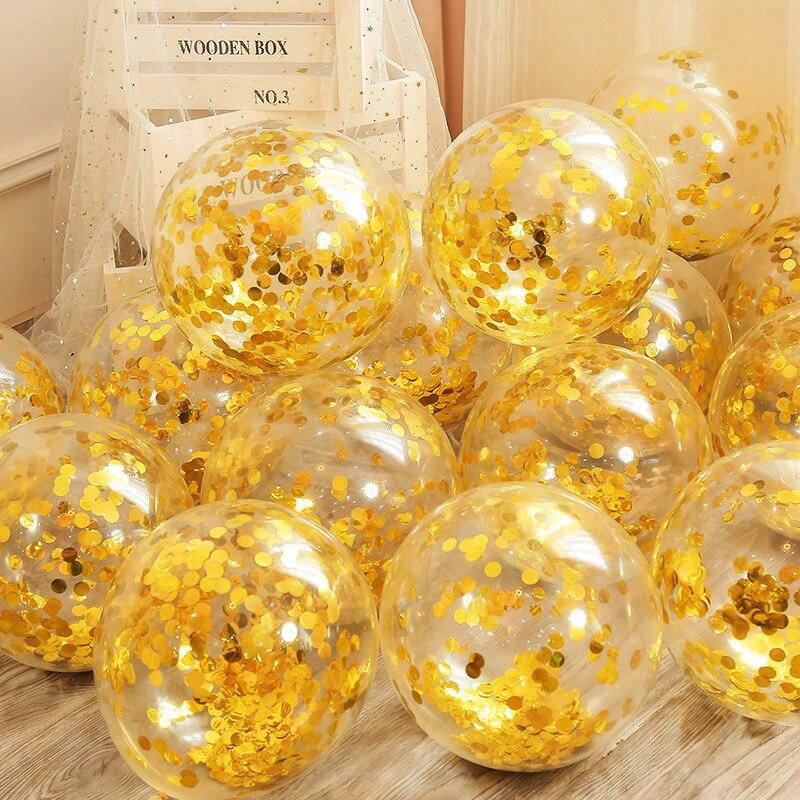 Свадебные украшения с конфетти, вечерние воздушные шары из алюминиевой фольги с блестками на день рождения, 12 дюймов