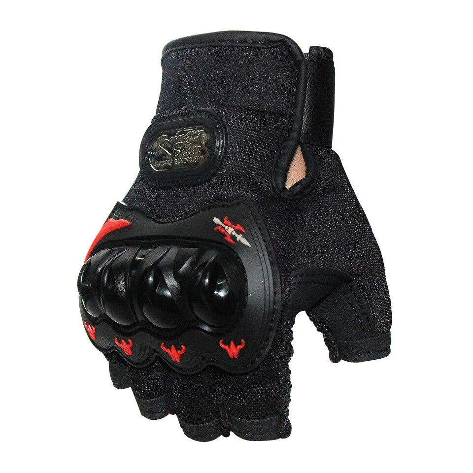 Motorcycle Fingerless Gloves For Men Women Moto Glove Racing Riding Half Finger Black Gloves Unisex Summer Guantes Motocross