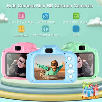 Dzieci Mini Camera zabawki edukacyjne dla dzieci dla dzieci prezenty dla dzieci prezent urodzinowy aparat cyfrowy 1080P projekcja kamery wideo tanie i dobre opinie Naprawiono ostrości 4 3 cali 15-30mm Brak 5 0-9 9MP Full hd (1920x1080) Karta sd Standardowy ekran 2 -3 Zdjęcie JPEG Wideo AVI Audio WAV
