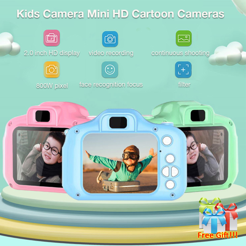 Kinder Mini Kamera Kinder Pädagogisches Spielzeug für Kinder Baby Geschenke Geburtstag Geschenk Digital Kamera 1080P Projektion Video Kamera