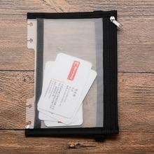 B6 блокнот сумка для хранения PP материал обложка молния сумка блокнот для хранения папок связывает папка для файлов сумка папка для документов
