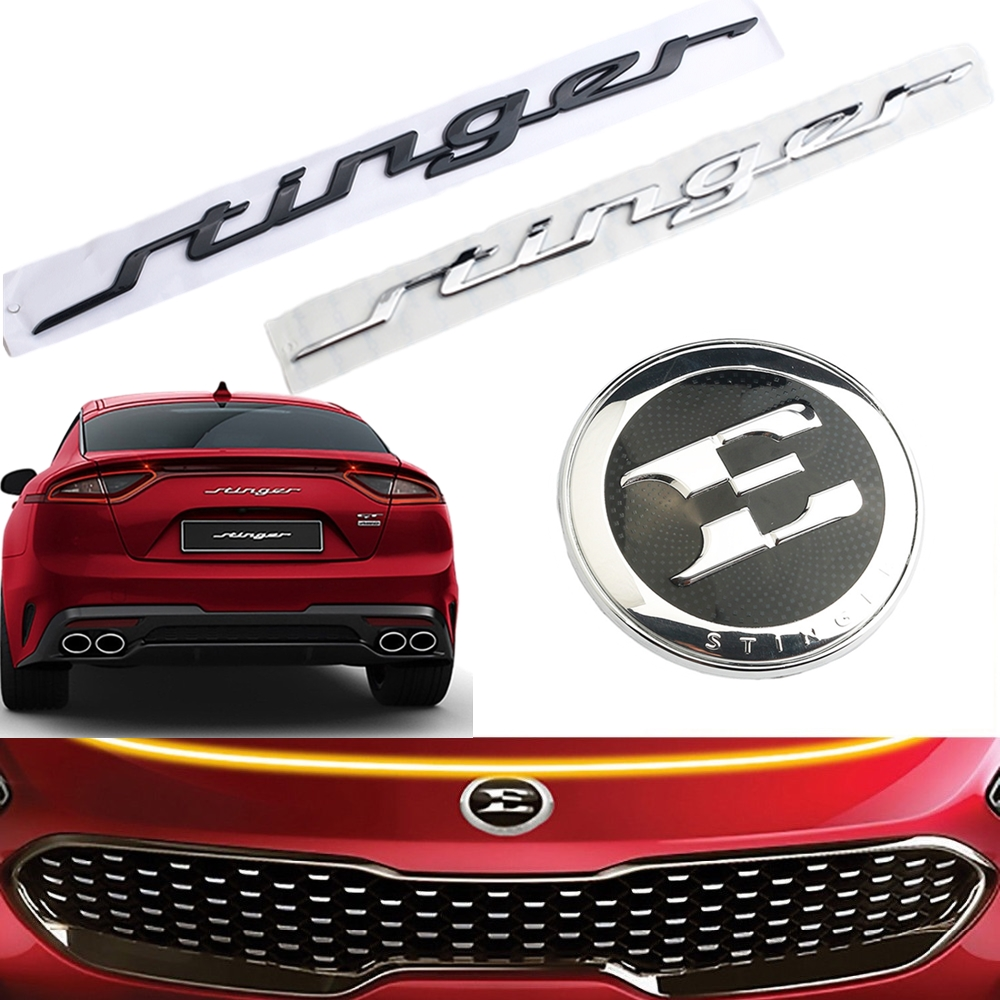 35 5CM Letter Emblem Badge Car Body Rear Trunk Sticker Decoration For KIA Stinger GT 2018 2 0T 86311-J5100   86311J5100 Decal