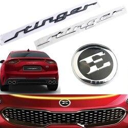 35.5Cm Brief Embleem Badge Auto Body Kofferbak Sticker Decoratie Voor Kia Stinger Gt 2018 2.0T 86311-J5100 / 86311J5100 Decal