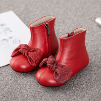Dolakids Girl's leather boots Martin boots for children full grain leather shoes handmade shoes for spring and autumn new single