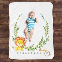 W3JF-Manta con patrón de animales para bebé recién nacido, accesorios de fotografía, fondo creativo de foto