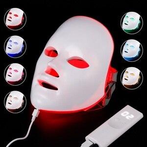 Image 1 - 7 Colors Light LED Facial Mask Skin Rejuvenation LED Mask Phototherapy Face Care Beauty Anti Acne Whitening Wrinkle Removal Mask
